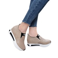 Women Flat Shoes Slip On Casual Platform Shoes women winter platform shoes woman women's casual genuine leather shoes slip on