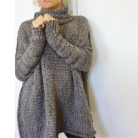 SIMPLE - Autumn Winter Knit Loose Sports Hoodies Long Sleeve Outerwear Jacket a12871