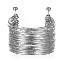 Silver Large Bangle Bracelet Cuff - Something Special