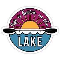 'Life is Better on the Lake' Sticker by claremahr
