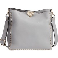 Valentino Vitello Rockstud Leather Hobo | Nordstrom