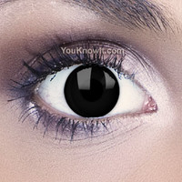 Black Contact Lenses | Funky Eyes Black Contact Lenses