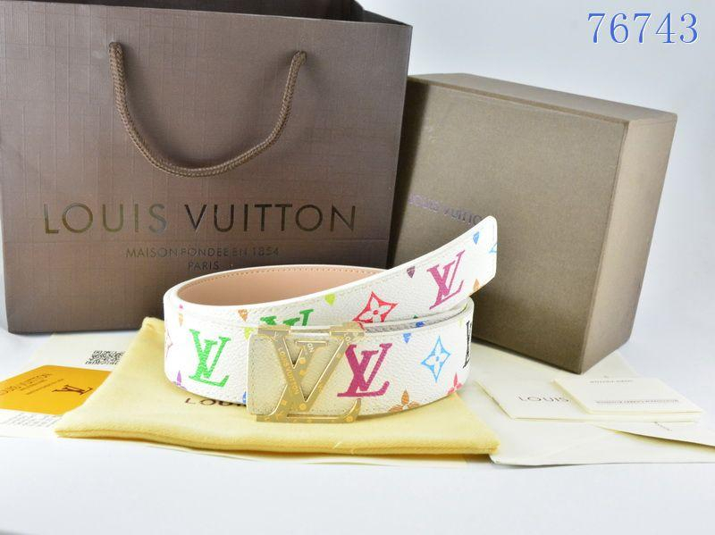 Image of Louis Vuitton LV Laser Classic Popular Woman Men Fashion Smooth Buckle Leather Belt
