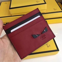 ABKUYOU FENDI Red Card Holder