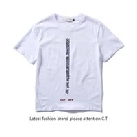 Cheap Women's and men's OFF-WHITE t shirt for sale 85902898_0191
