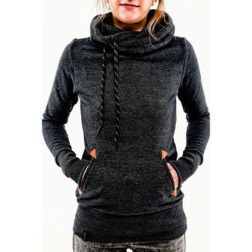 Fashion embroidery hooded sweater-3