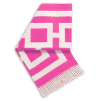 Jonathan Adler Hot Pink And Natural  Nixon Throw in All Pillows And Throws