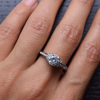 2.75 Ct Round Cut AAA Zirconia Stainless Steel Wedding Ring