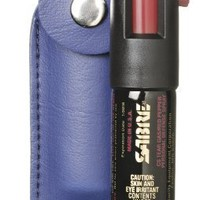 Sabre Pepper Spray with Blue Case And Key Ring (1/2-Ounce) - now with 5x's more spray
