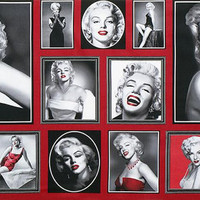 Fabric by the Yard - Robert Kaufman - Hollywood Icons Marilyn Monroe Red