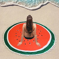 Watermelon _ Multi-way Round Beach Throw