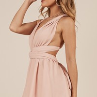 Rising Sun playsuit in blush Produced By SHOWPO