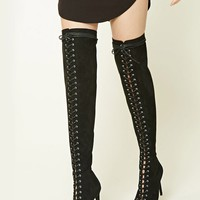 Wide Width Faux Suede Boots