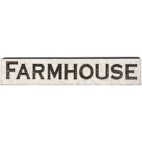 Jumbo Vintage Carved Farmhouse House Sign with Rough Painted Finish - 47-in