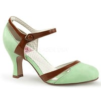 Pinup Couture Flapper Mint d'Orsay Pump