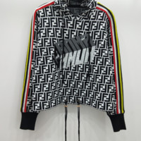 FENDI new cap-and-rope embroidered letterhead long sleeve knitted sweater