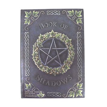 Gothic Gift Embossed Book Of Shadows Pentagram Witch Wicca Journal