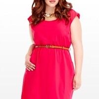 Plus Size Rose Belted Dress | Fashion To Figure