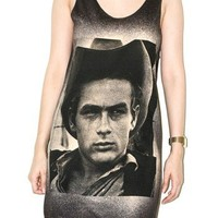 James Dean Charcoal Black Shirt Classic Movie Actor Tank Top Size S