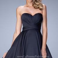 Strapless A-Line Homecoming Dress by La Femme