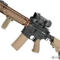 EMG MK18 Custom Airsoft AEG with i5 Gearbox System and DD Receiver / Handguard (Color: Black / Tan)