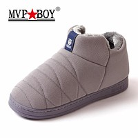 MVP BOY Super Warm Men Winter Boots Unisex Quality Snow Boots for Men Waterproof Warm Winter Shoes Men's Ankle Boots With Fur