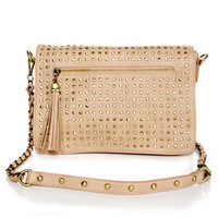 Believe It or Dot Studded Beige Handbag by Urban Expressions