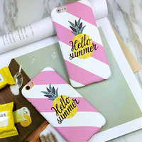 Fashion pineapple mobile phone case for iphone  6 6s 6plus 6s plus + Nice gift   box!