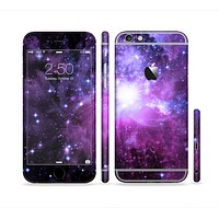 The Purple Space Neon Explosion Sectioned Skin Series for the Apple iPhone 6