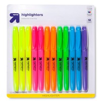 up & up™ Accent Highlighters in Assorted Colors - 12ct