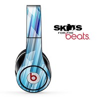 Abstract Blue 3d Spike Skin for the Beats by Dre Solo, Studio, Wireless, Pro or Mixr
