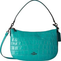COACH Women's Embossed Croc Chelsea Crossbody