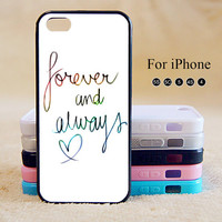Forever and always love,iPhone 5 case,iPhone 5C Case,iPhone 5S Case, Phone case,iPhone 4 Case, iPhone 4S Case,Case-IP002Cal