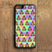 Funny Poop Emoji Tye Dye Cool Phone Case For iPhone 6 Plus For iPhone 6 For iPhone 5/5S For iPhone 4/4S For iPhone 5C3 iPhone X 8 8 Plus