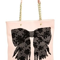 Women's Betsey Johnson 'Flock-a-Bows' Tote - Pink