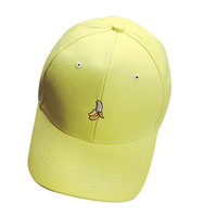 Voberry® Womens Cotton Baseball Cap Teen Girls Snapback Cap (Yellow)