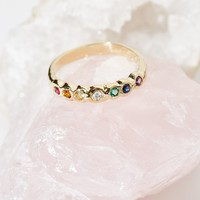 Free People Rainbow Band Ring