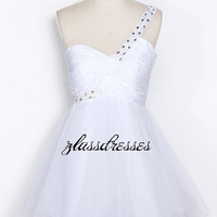 white taffeta and soft tennis skirt/ Party Dress / homecoming dress / Party Dress / cocktail dress/Prom Dresses  / special occasion dresses