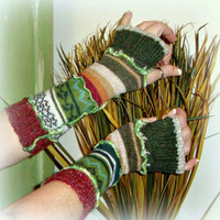 Arm Warmers, Upcycled Clothing, Upcycled Arm Warmers, Fingerless Gloves, Eco Friendly, Gift for Her
