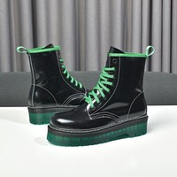 lv louis vuitton trending womens men leather side zip lace up ankle boots shoes high boots 135