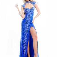 High Neck With Open Back Formal Prom Dress By Rachel Allan 6938