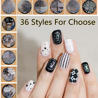Women's Hive Flower Pattern Nail Art Image Plate Stamper Stamping Designs Manicure Template