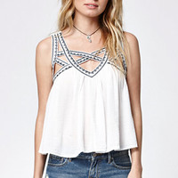 Rip Curl Neverland Embroidered Strappy Tank Top at PacSun.com