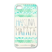Generic KGEND Hakuna Matata Aztec Tribal Pattern Snap-On Case for iPhone 4/4s - Non-Retail Packaging - Multi