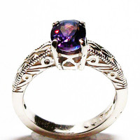 "Purple topaz, purple mystic topaz, purple topaz ring, solitaire ring, purple, s 6 1/2  ""Purple Pitter Patter"""