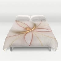 Nobly In Gold And Copper, Fractal Art Duvet Cover by Gabiw Art