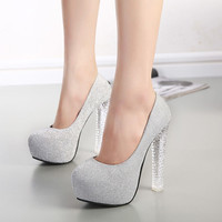 Crystal High Heel Shoes = 4814804612