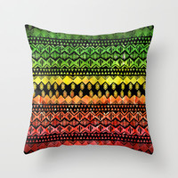 One Love Tribal {black} Throw Pillow by Schatzi Brown