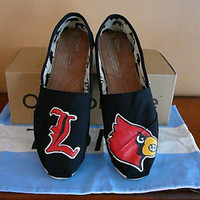 Louisville Cardinals handpainted TOMS by SolesoftheSouth on Etsy