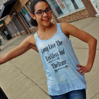 Long Live The Reckless And The Brave Flowy Tank Top. Ladies Sizing.